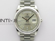 Day-Date 40mm 228239 BP New Dial Version 904 SS Silver T Crystal Markers Dial on SS President Bracelet A2836