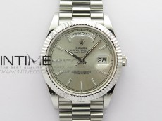 Day-Date 40mm 228239 BP New Dial Version 904 SS Silver Stick Markers Dial on SS President Bracelet A2836