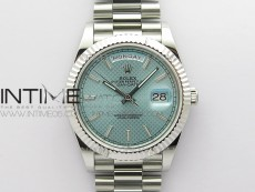 Day-Date 40mm 228239 BP New Dial Version 904 SS Ice Blue Stick Markers Dial on SS President Bracelet A2836