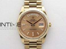 Day-Date 40mm 228239 BP New Dial Version 904 RG T Crystal Markers RG Dial on RG President Bracelet A2836