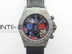 Daytona DIW Carbon OMF Best Edition Red/Blue Dial on Black Nylon Strap A4130