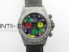 Daytona DIW Carbon OMF Best Edition Red/Yellow/Green Dial on Black Nylon Strap A4130
