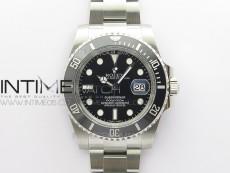 Submariner 116610 LN Black Ceramic ARF 1:1 Best Edition 904L SS Case and Bracelet AR3135 V4