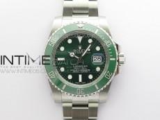 Submariner 116610 LV Green Ceramic ARF 1:1 Best Edition 904L SS Case and Bracelet AR3135 V4