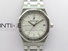 Royal Oak 41mm 15500 SS ZF 1:1 Best Edition White Textured Dial on SS Bracelet A4302 V2 (Free Box)
