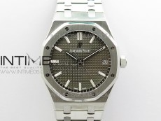 Royal Oak 41mm 15500 SS ZF 1:1 Best Edition Gray Textured Dial on SS Bracelet A4302 V2 (Free Box)
