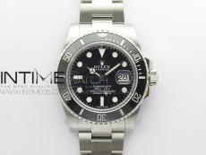 Submariner 116610 LN Black Ceramic ZRF 1:1 Best Edition on SS Bracelet VR3135 (CF Bezel)