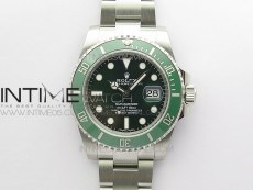 Submariner 116610 LV Green Ceramic ZRF 1:1 Best Edition on SS Bracelet VR3135 (CF Bezel)