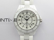 J12 38mm KOR 1:1 Best Edition White Korea Ceramic White Dial Numbers Markers on Bracelet Calibre 12.1