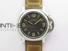 PAM390 N Noob 1:1 Best Edition on Brown Leather Strap A6497 with Y-Incabloc V12