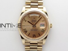 Day-Date 40mm 228239 RG BP New Dial Version RG Roman Markers Dial on RG President Bracelet A2836