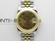 Datejust 31mm 278273 SS/YG BP Best Edition YG Roman Markers Dial on SS/YG Jubilee Bracelet
