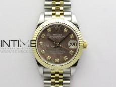 Datejust 31mm 278273 SS/YG BP Best Edition Brown MOP Diamond Markers Dial on SS/YG Jubilee Bracelet