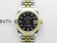 Datejust 31mm 278273 SS/YG BP Best Edition Black Stick Markers Dial on SS/YG Jubilee Bracelet