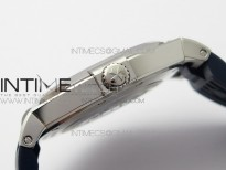 Overseas SS MKS 1:1 Best Edition Blue dial on Blue Rubber Strap MIYOTA 9015