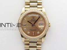 Day-Date 36 128235 RG/Crystal BP Best Edition RG Crystal Marker Dial on RG President Bracelet A2836