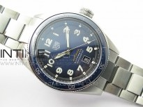 Autavia WBE5116 42mm SS KOR 1:1 Best Edition Blue Ceramic bezel Blue Dial on SS Bracelet SW200 (Free Nylon and Leather Strap)