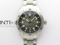 Autavia WBE5116 42mm SS KOR 1:1 Best Edition Gray Dial on SS Bracelet SW200 (Free Nylon and Leather Strap)