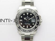 GMT Master II 116710LN Black Ceramic 316L Steel ROF Best Edition Black Dial on SS Bracelet A3186