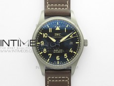 Mark XVIII IW327006 Titanium V7F 1:1 Best Edition Black Dial on Brown Leather Strap A2892