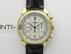 Historiques 5000H YG OXF White Dial on Black Leather Strap A7750