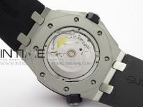Royal Oak Offshore Diver 15703 ZF 1:1 Best Edition Black Dial on Black Rubber Strap A2824