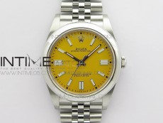 Oyster Perpetual 41mm 124300 BP Best Edition Yellow Dial on SS Jubilee Bracelet