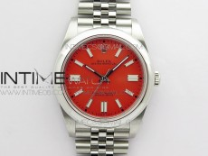 Oyster Perpetual 41mm 124300 BP Best Edition Red Dial on SS Jubilee Bracelet