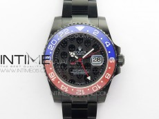 GMT-Master II 126710 DLC Red/Blue Ceramic 904L Steel LF 1:1 Best Edition Black Dial SA3186 CHS