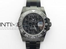 GMT-Master II 126710 DLC Black Ceramic 904L Steel LF 1:1 Best Edition Black Dial SA3186 CHS