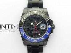 GMT-Master II 126710 DLC Black/Blue Ceramic 904L Steel LF 1:1 Best Edition Black Dial SA3186 CHS