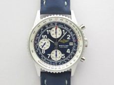 Navitimer 41mm SS B50 Best Edition SS Blue Dial Numeral Markers on Blue Leather Strap A7750