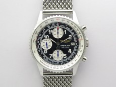 Navitimer 41mm SS B50 Best Edition SS Black Dial Numeral Markers on SS Bracelet A7750