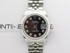 Datejust 31mm 279174 SS BP Best Edition Black Crystal Markers Dial on SS Jubilee Bracelet ETA2671