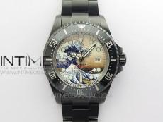 Sea-Dweller 126660 ROF DLC Waves Best Edition Black Dial on DLC Bracelet A2836