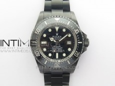 Sea-Dweller 126660 ROF DLC Best Edition Black Dial on DLC Bracelet A2836