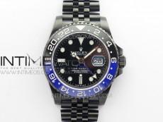 GMT Master II Black/Blue Ceramic DLC GSF Best Edition Black Dial on DLC Jubilee Bracelet A3186