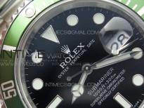 Submariner 16610 LV Green 904L Steel ARF1:1 Best Edition on SS Bracelet SH3135