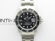Submariner 16610 LN Black 904L Steel ARF1:1 Best Edition on SS Bracelet SH3135