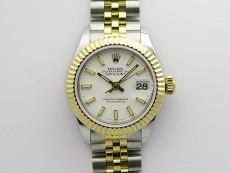 Datejust 28mm 279173 SS/YG BP Best Edition White Sticks Markers Dial on SS/YG Jubilee Bracelet ETA2671