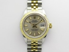 Datejust 28mm 279173 SS/YG BP Best Edition Silver Sticks Markers Dial on SS/YG Jubilee Bracelet ETA2671