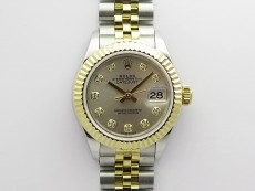 Datejust 28mm 279173 SS/YG BP Best Edition Silver Crystals Markers Dial on SS/YG Jubilee Bracelet ETA2671