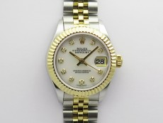 Datejust 28mm 279173 SS/YG BP Best Edition White MOP Crystals Markers Dial on SS/YG Jubilee Bracelet ETA2671