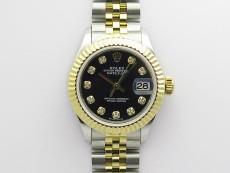 Datejust 28mm 279173 SS/YG BP Best Edition Black Crystals Markers Dial on SS/YG Jubilee Bracelet ETA2671