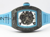 RM055 Real NTPT ZF 1:1 Best Edition Skeleton Dial on Blue Rubber Strap SEIKO Movement