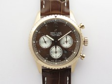 Navitimer 8 RG B12 Best Edition Black dial On Brown Leather Strap A7750
