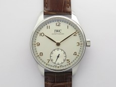 Portuguese IW358303 ZF 1:1 Best Edition SS White Dial RG Markers on Brown Leather Strap A82200