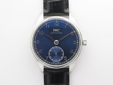 Portuguese IW358304 ZF 1:1 Best Edition SS Blue Dial on Black Leather Strap A82200