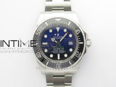 Sea-Dweller 126660 Black Ceramic Blue Dial ARF 1:1 Best Edition 904L SS Case and Bracelet A2824