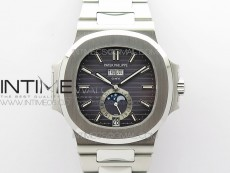 Nautilus 5726 Full Function SS PPF 1:1 Best Edition Gray Dial on SS Bracelet A324